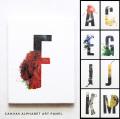 アルファベットキャンバスアート アートプリント アルファベットデザイン オブジェ 日本製 18×14 A〜M