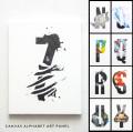 アルファベットキャンバスアート アートプリント アルファベットデザイン オブジェ 日本製 18×14 N〜Z