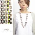 GOSH ゴッシュ アセテート 2WAYネックレス グラスチェーン グラスコード カラフル レディース 女性 首輪 おしゃれ