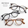 DUNELL High Quality デュネル チタンテンプル ボストン 日本製 鯖江 メガネ 度付き 伊達メガネ
