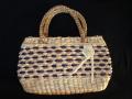 民芸調水草ハンドバッグ
