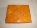 本ワニ皮製半折財布