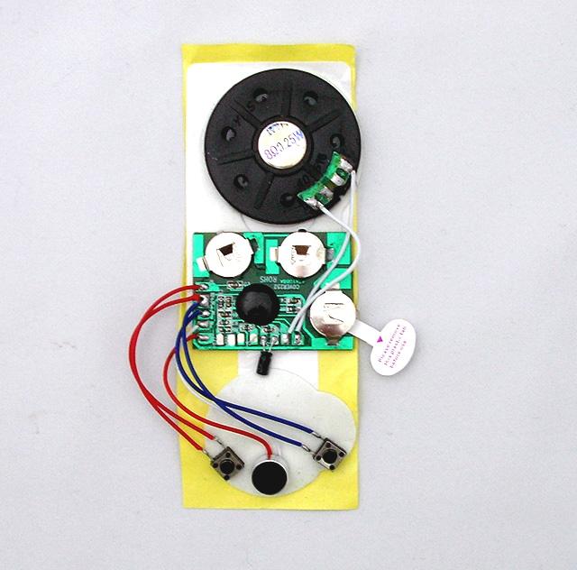 MK-108 音声メッセージカードが簡単に作れる超薄型10秒ボイスレコーダーボード(マイク、スピーカー、電池付き。)