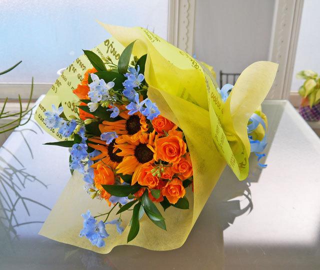 父の日ひまわりの花束