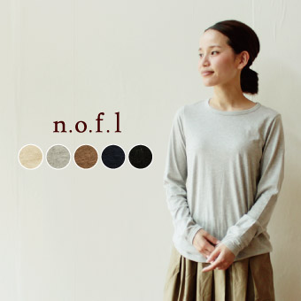 【nofl】コットンクルーネックプルオーバー