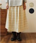 YARRA シャドウボーダースカート