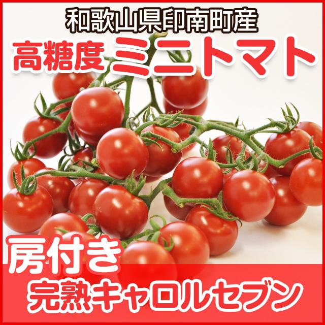キャロルセブン 房付き 完熟ミニトマト