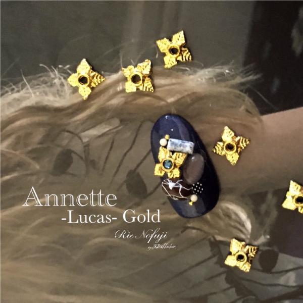 Bonnail×RieNofuji Annette Lucas Gold 6mm