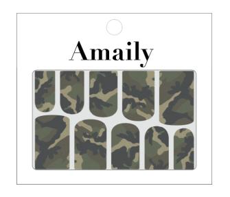 Amaily ネイルシール No.6-3 迷彩