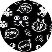 Amaily ネイルシール No.3-14 白猫