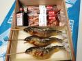 子持鮎塩焼き,国産鰻蒲焼き(タレ山椒付属) 化粧箱入 各2尾入,3尾入ご用意しています。