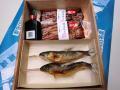 鮎塩焼き,国産鰻蒲焼き(タレ山椒付属) 化粧箱入 各2尾入,3尾入ご用意しています。