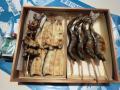 鮎塩焼き,子持鮎塩焼き,国産鰻白焼き頭肝骨各2尾入(タレ山椒付属)化粧箱入りセット