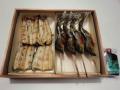 鮎塩焼き子持鮎塩焼,国産鰻白焼き各2尾入(タレ山椒付属)化粧箱入りセット
