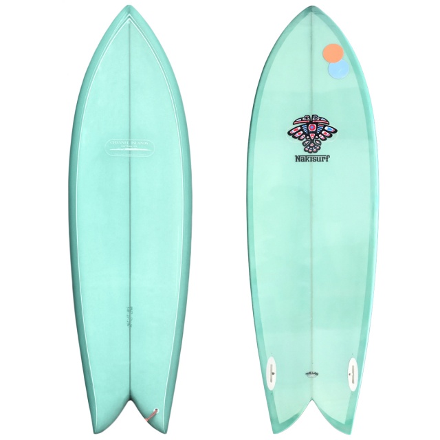 "【中古優良品】 CHANNEL ISLANDS CI FISH 5'10"" x 21"" x 2-7/16""  【商品グレード】★★★☆☆"
