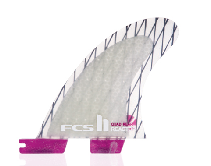 FCS II  Reactor PC Carbon Quad Rear Fin