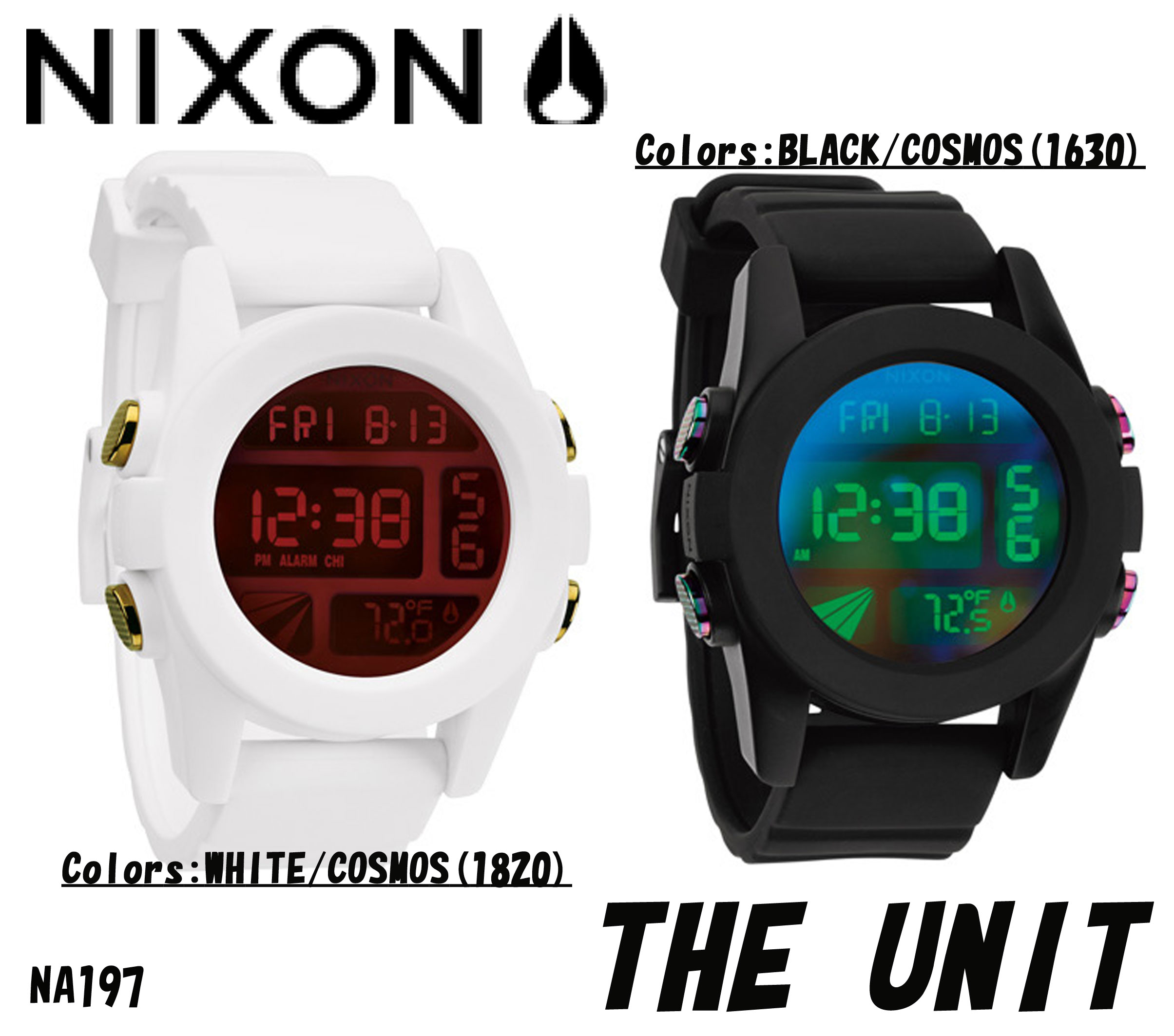 20 off nixon watch the unit black cosmos white cosmos. Black Bedroom Furniture Sets. Home Design Ideas