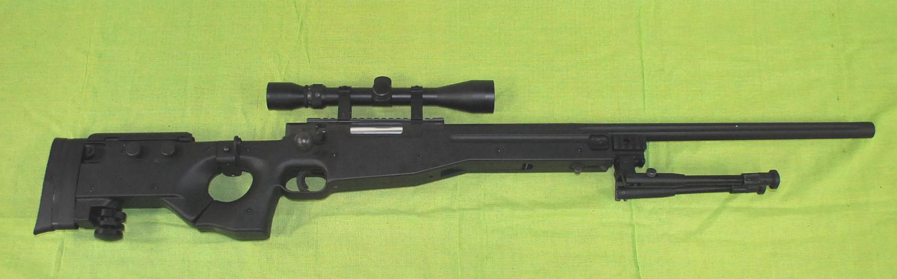L96 AW338スナイパーライフル(エアコッキング)BK C格品(一部欠品)