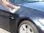車のガラスコーティング  ハイブリッドナノガラス コーティング前処理 鉄粉除去1
