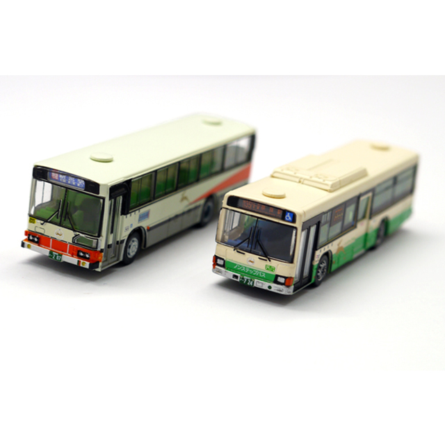 ザ・バスコレクション奈良交通オリジナルバスセット 八木新宮特急バス・ノンステップバス 2台セット