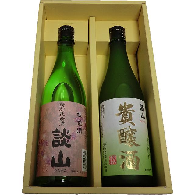 【送料込】 談山貴醸酒、談山特別純米セット(720ml×2本) 【メーカー直送品/代引不可】【B】