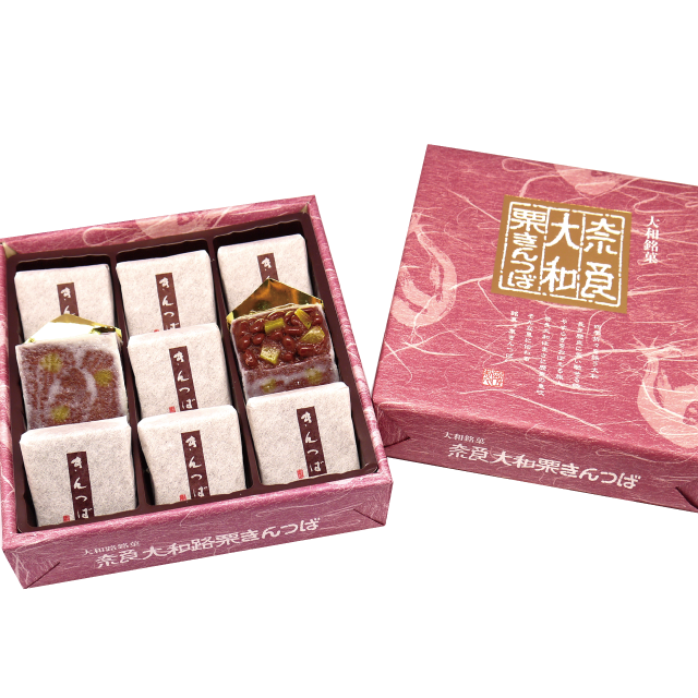 奈良大和栗きんつば (9個入り) ≪奈良みやげ/和菓子≫