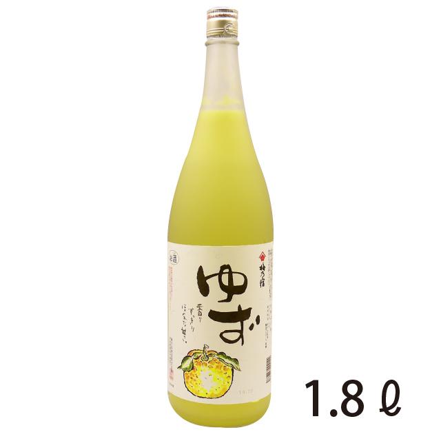 梅乃宿 ゆず酒 1.8L -梅乃宿酒造- 《奈良の地酒/リキュール》