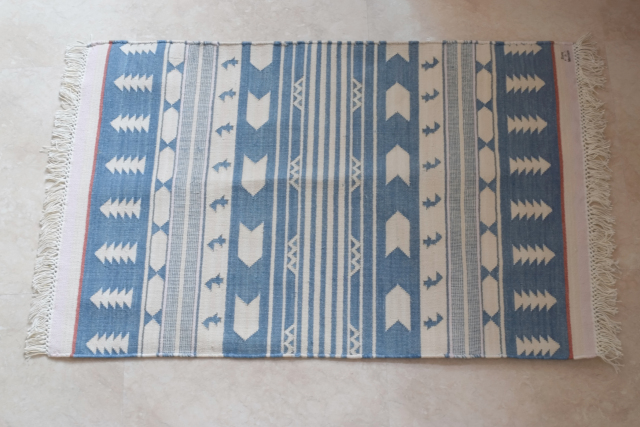 Fine Cotton Indigo Rug