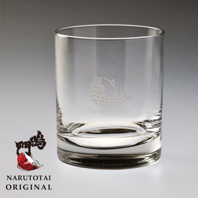 鳴門鯛ロゴ入り ロックグラス