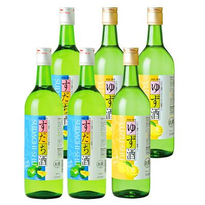 すだち酒&ゆず酒<徳島の柑橘リキュール>720ml×6本組
