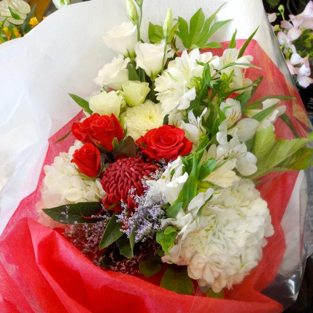 開店祝い スタンド花 ピンクダリア 二子玉川の花屋 ネイティブフラワーイーダ