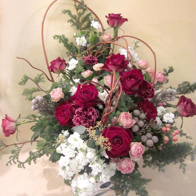 開業祝いに贈る花 バスケット 東京 二子玉川の花屋