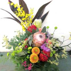 楽屋花 公演祝いのアレンジメント装花 ジャポネイティブ 二子玉川の花屋 ネイティブフラワーイーダ