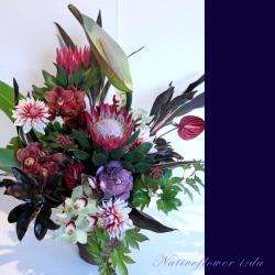 高輪に贈るお祝い花 大きなアレンジメント 【生花アレンジ】グローリア