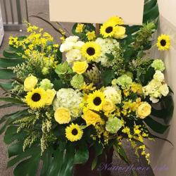 公演祝いの花 楽屋花 アレンジメント イエローパーティ