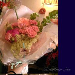 明治神宮 花束 アンティークロマン 二子玉川の花屋 ネイティブフラワーイーダ
