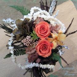移転祝い スタンド花 二子玉川の花屋 ネイティブフラワーイーダ プリザーブドフラワー コーラル
