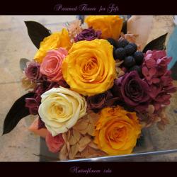 移転祝い プリザーブドフラワー 大輪ビビット 二子玉川の花屋 ネイティブフラワーイーダ