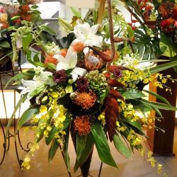 新宿区に贈るお祝いスタンド花 ヴィロン