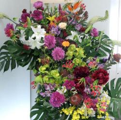 代々木に贈るスタンド花 ビッグスタンド2基セット