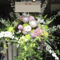 大崎に贈るお祝いスタンド花 グリーンスター