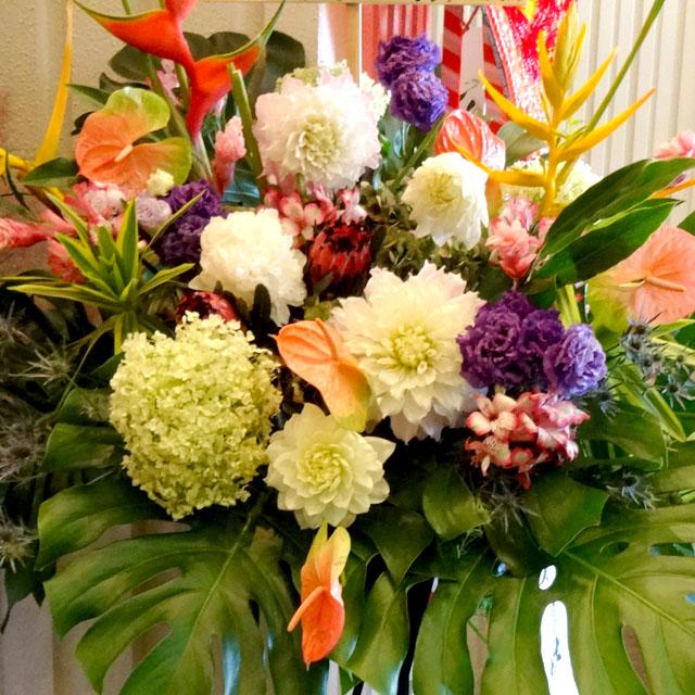 開店祝いスタンド花 お祝いスタンド花 おまかせスタンド花 20000円二子玉川の花屋 ネイティブフラワーイーダ