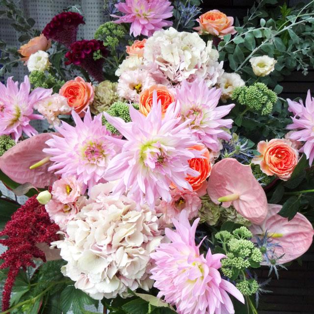 開店祝い 花 おまかせスタンド花 25000円 スタンド花 東京 二子玉川の花屋 ネイティブフラワーイーダ