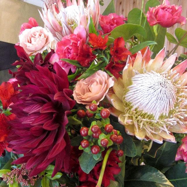 開店祝い 花 おまかせスタンド花 東京 二子玉川の花屋 ネイティブフラワーイーダ