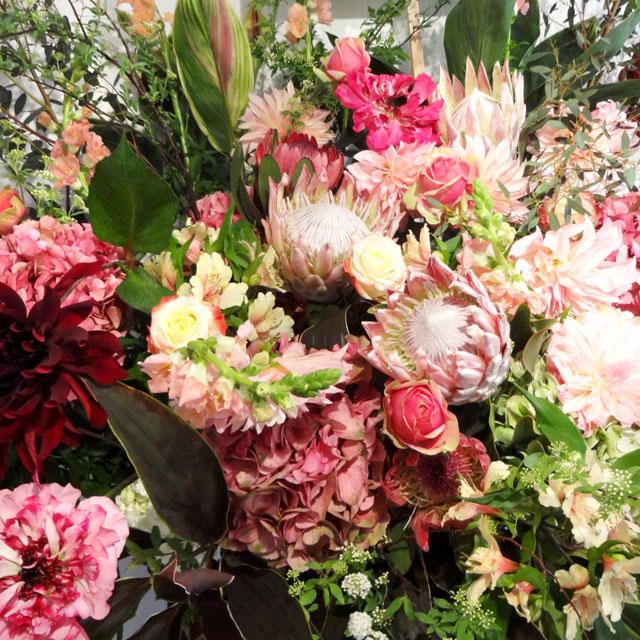 開店祝い 花 グリーンフラッシュ スタンド花 東京 二子玉川の花屋 ネイティブフラワーイーダ