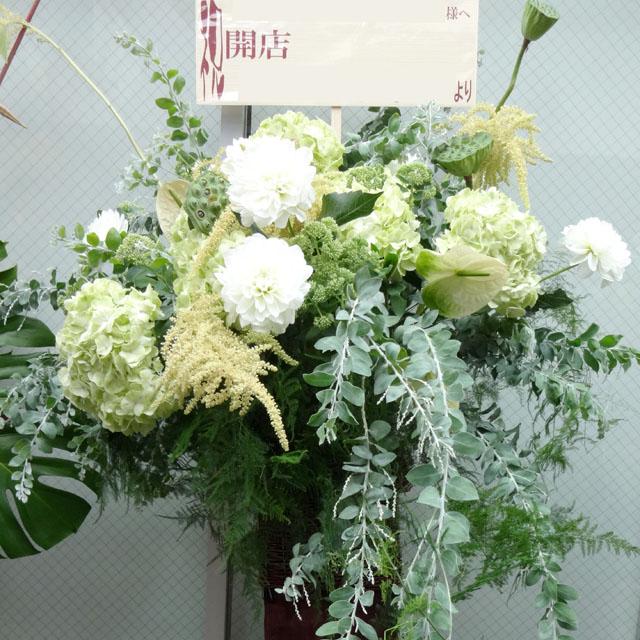 お祝いスタンド花 スタンド花・グリーンフラッシュ 二子玉川の花屋 ネイティブフラワーイーダ