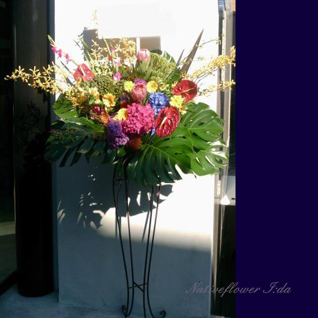 開店祝い スタンド花 二子玉川の花屋 ネイティブフラワーイーダ ヴィーナス