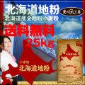 【送料無料】【麦の風工房】十勝産小麦粉『北海道地粉』(25kg)【業務用】【北海道産小麦粉】
