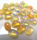 天然石ルース(裸石)・エチオピアンオパール/カボション(オーバル)【6×4mm】(1個)
