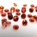 天然石ルース(裸石)・オレンジサファイア(セイロン・スリランカ/加熱処理)/ラウンド【3mm】ファセットカット(3個)